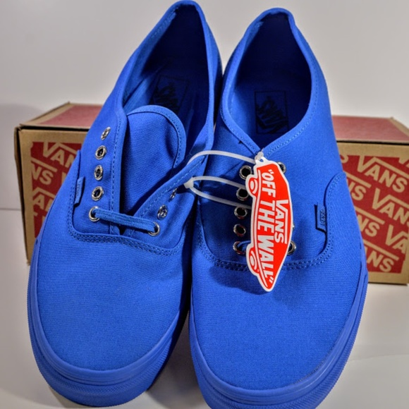 64a394a45a Van s Authentic Primary Mono Blue Imperial B SZ 12